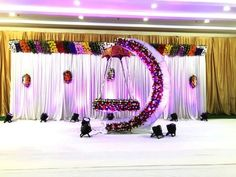 Amazing cradle ceremony decoration ideas for all your events. images for cradle decoration for naming ceremony from Quotemykaam catalogue. Naming Ceremony Decoration, Wedding Hall Decorations, Backdrop Decorations, Balloon Decorations, Baby Shower Decorations, Flower Decorations, Birthday Decorations, Backdrops, Cradle Decoration