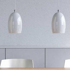 hanglampen glas wit eettafel