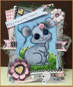 New Mouse image154 by Sherri Baldy - June Release 2016.  isn't she just adorable and cute.. and perfect for any card