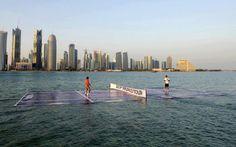 NEL QATAR SUCCEDE ANCHE QUESTO!! FEDERER VS NADAL – TENNIS IN ACQUA!!