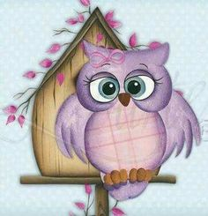 would be cute for a little girls room Tole Painting, Painting & Drawing, Decoupage, Owl Pictures, Owl Always Love You, Owl Crafts, Country Paintings, Wise Owl, Owl Bird