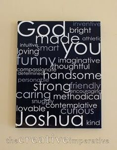 Individual inspirational canvas for your kids... love it!