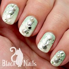 New Seashell Nail Design