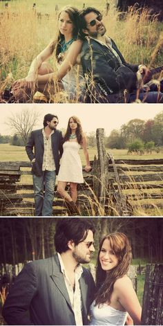 this couple reminds me of my favorite band/duo, The Civil Wars. these engagement session photos are great.