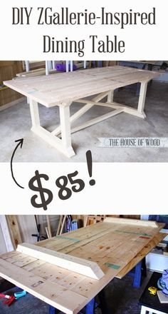 Best Diy Projects: Build your own ZGallerie-inspired Dining Table!