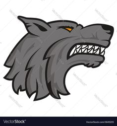 Wolf head logo on white background. Download a Free Preview or High Quality Adobe Illustrator Ai, EPS, PDF and High Resolution JPEG versions.