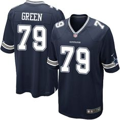 Nike Game Chaz Green Navy Blue Men's Jersey - Dallas Cowboys #79 NFL Home