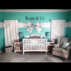 Tiffany Co. Inspired Baby Nursery!