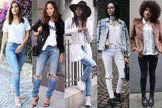Tendência: Jeans rasgado no joelho | Just Lia