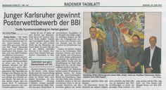 Junger Karlsruher gewinnt Posterwettbewerb der BBI: Große #Kunstveranstaltung im Herbst geplant  I Contemporary #Art Baden-Baden