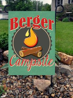 Personalized Campsite Garden Flag by Flagmania on Etsy