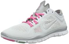 Nike Womens Free 50 TR Fit 4 WhiteMtllc SlvrDffsd JdPnk Training Shoe 65 Women US >>> Want to know more, click on the image.(This is an Amazon affiliate link and I receive a commission for the sales)