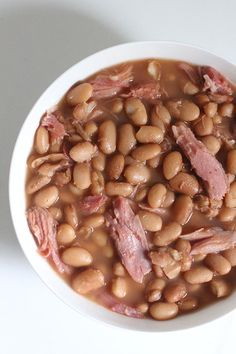 Crockpot Ham and Pinto Bean Soup hambone