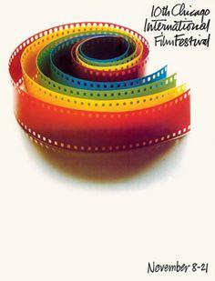 Saul Bass (1920-1996, American), 1974, 10th Chicago International Film Festival, Chicago.