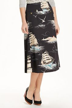 Skirts Alert Anthropologie In The Trees Skirt Floreat Pencil Bird Size Size 2 At Any Cost Women's Clothing