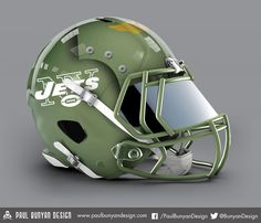 NY Jets - NFL Concept Helmet by Paul Bunyan Design
