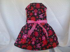 dog dress small floral print. $15.00, via Etsy.