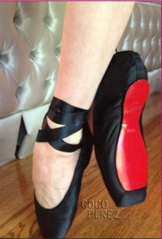 Custom ballet slippers from Chirstian Louboutin for Dita Von Teese
