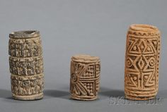 Three Pre-Columbian Pottery Stamps Ceramic Texture, Texture Art, Indian Ceramics, Indian Musical Instruments, Ceramic Tools, Clay Stamps, Native Design, Ceramic Techniques, Pottery Designs