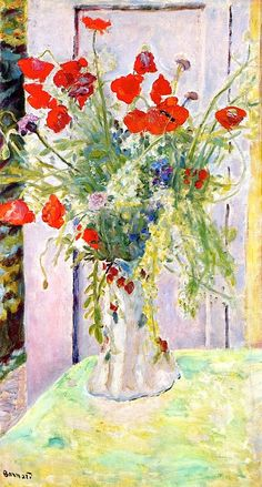 Red Poppies ~ Pierre Bonnard | Lone Quixote | #PierreBonnard #bonnard…
