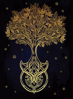 Meaning Celtic Tree of Life - Tree of Life - Yggdrasil Bedeutung keltischer Lebensbaum – Baum des Lebens – Yggdrasil Celtic Tree of Life – Yggdrasil Yggdrasil Tattoo, Viking Symbols, Ancient Symbols, Mayan Symbols, Egyptian Symbols, Viking Runes, Tree Of Life Meaning, Nordic Tattoo, Tree Of Life