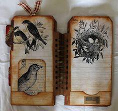 ShelbyDoodle Designs: A Vintage Themed Journal for Ephemera's Vintage Garden