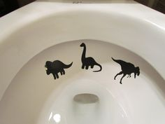 Boy Dinosaur Toilet Target by LilMrsCrafty on Etsy, $5.50