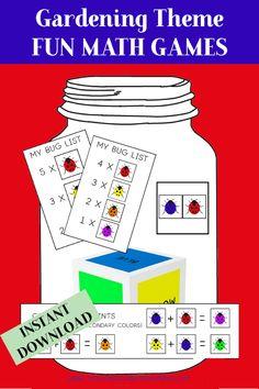 Garden Theme Activity Bundle - Teaching Thinking Minds Emergent Literacy, Literacy Worksheets, Critical Thinking Activities, Critical Thinking Skills, Monster Activities, Craft Activities, Learn Basic Math, Fun Math Games, Gross Motor Skills
