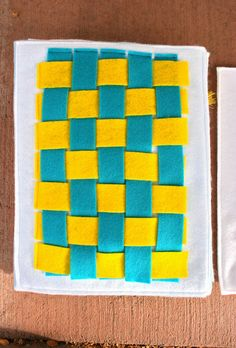 A felt weaving page for a quiet book or busy book!  Love this!