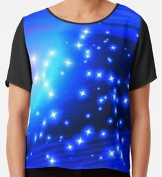 A Sparkling Blue Planet 1 by Beatrice Beute Planet 1, Sell Your Art, Chiffon Tops, Sparkle, Celebrities, Mens Tops, T Shirt, Blue, Design
