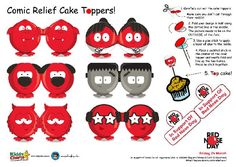 If you making cakes for Red Nose Day - these cake toppers based on some of their noses are for you! Printable Activities For Kids, Outdoor Activities For Kids, Kids Learning Activities, Free Printables, Ways To Fundraise, Reward Chart Kids, Making Ten, Curious Kids, Red Nose Day