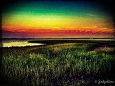 Sunrise, Sunset #iphoneography #photography #sunrise #sunset #rainbow #colorful #beautiful #SC #Charleston, #summer2012