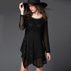 New 2016 Spring Women simple elegant party evening dress female office dress vestidos plus size XXXXL New 2016 Spring Women embroidery simple black dress shift fashion trend female elegant party dress vestido plus size XXXXXL New 2016Spring Women cultivate embroidery asymmetrical dress hollow out female elegant party dress vestido plus size XXXXXL20019 Party Evening Elegant ...