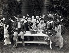 First and second wave of Our Gang kids celebrate Easter (1920s - 1930s)