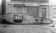 In an attempt to improve trench-crossing capability of the Mark IV; an attachment lengthened the tank by 2.74m (9ft) and required 28 more track plates on each side. It was called a ''Tadpole''.