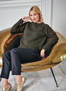 Mag. 183 - n° 06 Pull col rond version 100% laine classique Modèles, broderie & tricot Achat en ligne