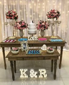 Beautiful Wedding Reception Decoration Ideas - Put the Ring on It Wedding Table, Diy Wedding, Rustic Wedding, Wedding Cakes, Wedding Day, Simple Wedding Decorations, Engagement Party Decorations, Simple Weddings, Wedding Cake Fresh Flowers