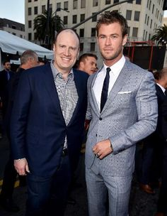 Kevin Feige and Chris Hemsworth