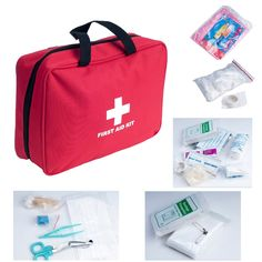 Weanas® Outdoor First Aid Kit Bag 200 pieces Portable for Camping Hiking Boating Fishing Hunting -- You can find more details by visiting the image link.