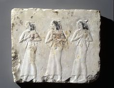 Relief of Mourning Women Egypt, 381-343. B.C., XIII Dynasty, Late Period