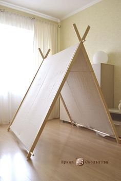 Diy a frame tent farmhouse indoor style kids camping room – Artofit