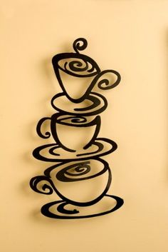 Laser Cut Metal Coffee Art Plaque Wall Hanging