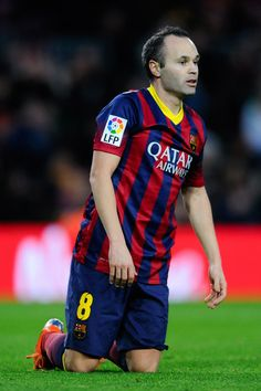 Andres Iniesta of FC Barcelona looks on during the La Liga match between FC Barcelona and Elche FC at Camp Nou on January 5, 2014 in Barcelona, Catalonia.