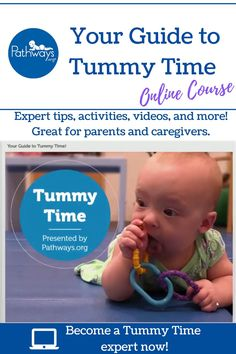 How can you help baby with Tummy Time so they can meet those important milestones? Try the Pathways.org online Tummy Time course to learn about a variety of Tummy Time positions. Plus, get fun Tummy Time game ideas, tips from an experienced therapist, and much more! Get your course today!  #TummyTime #tummytimetips #babydevelopment #newparents #parentingtips #expectingparents #newborns #newbaby #babytips #babymilestones #newborntummytime #tummytimeideas #tummytimeactivities Baby Learning Activities, Infant Sensory Activities, Sensory Bags, Baby Sensory, 6 Month Baby Games, Baby Month By Month, Baby Massage, Baby Routines, Best Baby Toys