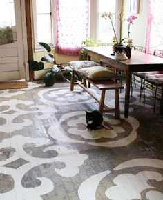 Quick, Cheap, Creative, Bad Floor Makeover!