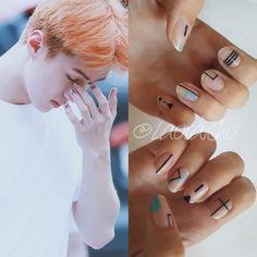 EXO Sehun Nails #EXO #Sehun #Nails #Nail #Nailart #Kpop