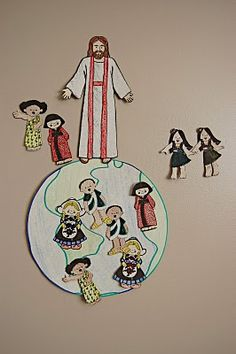 Fortify The Children: Lesson 18: I WILL LOVE OTHERS I love the Pin the Children on the World game idea for the kids.