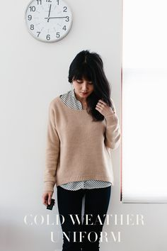 cold weather uniform (02/07/2013 post). I have personally been trying to improve on my use of layering for form and function. This outfit looks cute and easy.