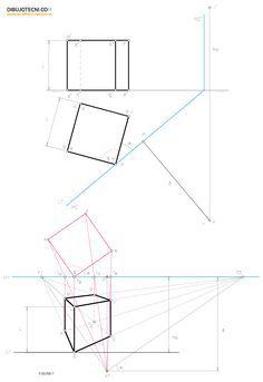 Perspectiva Conica Metodo De Las Proyecciones Visuales Tecnicas De Dibujo Como Dibujar En Perspectiva Clases De Dibujo En Perspectiva