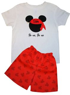 Disney Mickey Mouse Pirate Short Set by ChildrensCottage on Etsy, $43.00
